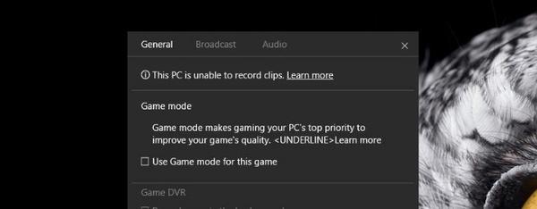 Windows 10:n uusi pelimoodi paljastui esiversiosta