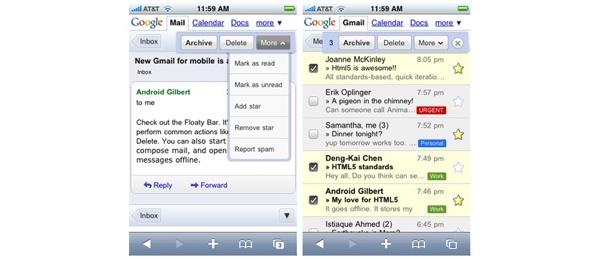 Gmailin iPhone-versio päivittyi