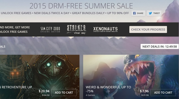 GOG's 2015 DRM-free summer sale is on