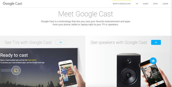 Chromecast is now Google Cast