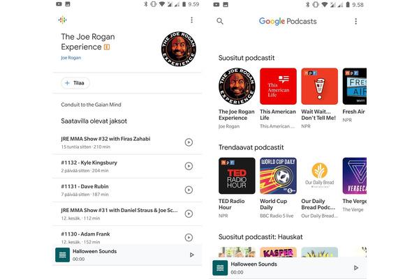Google julkaisi Androidille oman podcast-sovelluksen