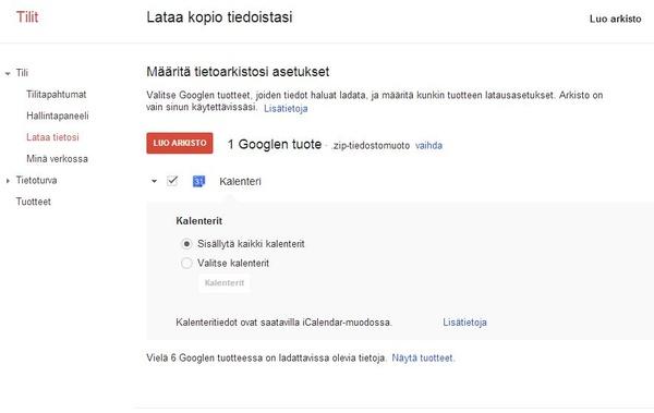 Googlen uusi ominaisuus antaa varmuuskopioida sähköpostit itse
