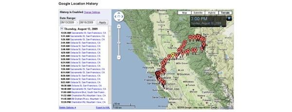 Google toi Latitudeen sijaintihistorian ja -hälytykset