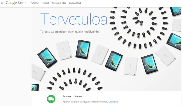 Nexus 6 myyntiin Suomessa - Google avasi uuden nettikaupan