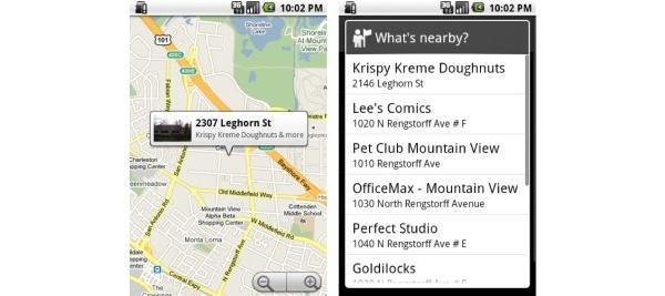 Googlelta uutuuksia mobiilihauissa: Google Goggles sekä lähellä olevat kohteet