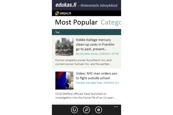High.fi, Vaihtoehto Amppareille, saapui myös Windows Phonelle
