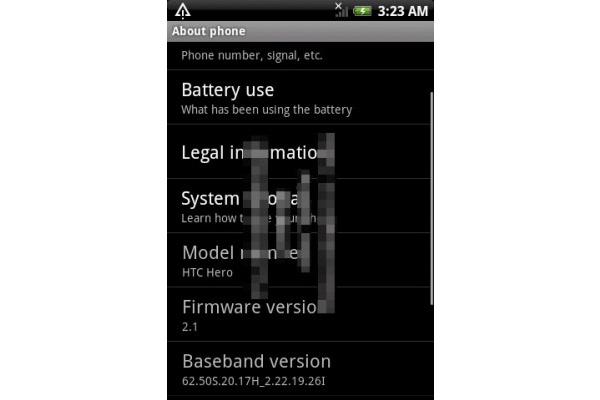 Hyppääkö HTC Hero suoraan Android 2.1:een?