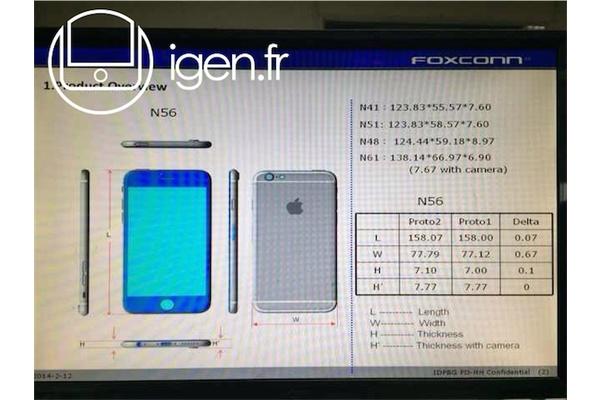 Uudet kuvat paljastavat iPhone 6:n mitat
