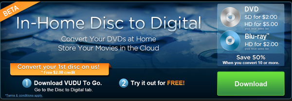 Guide: Legally converting your DVD/Blu-ray discs to digital copies in the cloud with VUDU