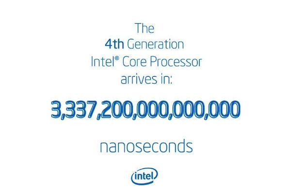 Intel vahvisti: Haswellin julkaisuun 3337200000000000 nanosekuntia