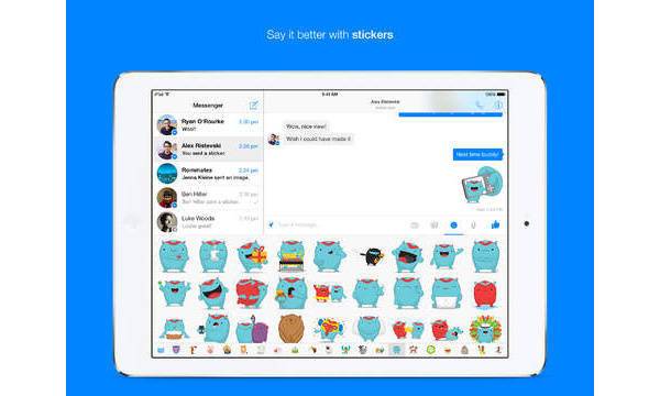 Facebook Messenger now available as native iPad, allows for phone calls