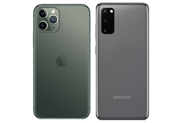 Kumpi on parempi: Vertailussa Galaxy S20 ja iPhone 11 Pro
