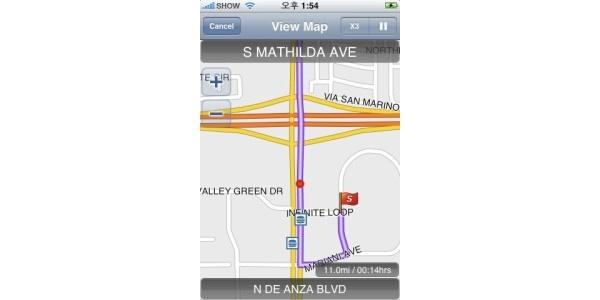 iPhonelle ensimmäinen navigointisovellus - mutta vain amerikkalaisille
