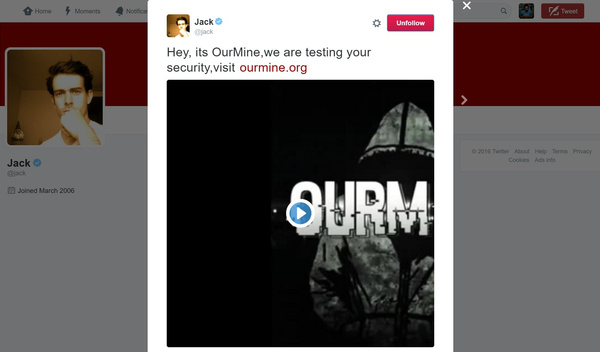 Twitter CEO's account got hacked