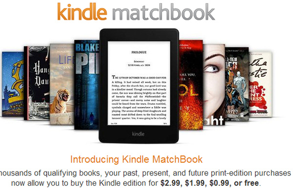 Kindle MatchBook: Amazon bundles discounted ebooks with 75,000 physical books
