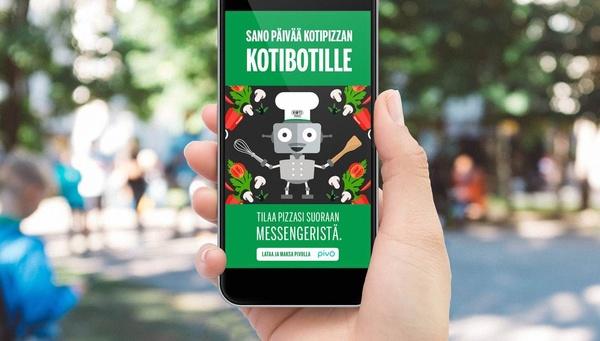 Näin tilaat Suomessa pizzan Messengerin kautta
