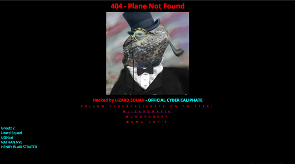 Lizard Squad defaces Malaysia Airlines site, promises data dump