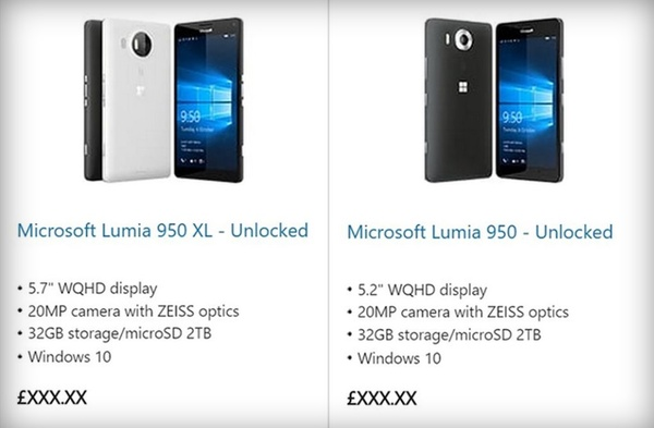 Microsoft accidentally confirms its oft-rumored Lumia 950 and XL models