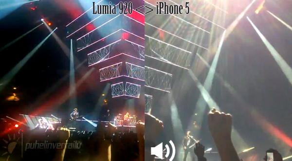 Musen keikalla: Lumia 920 vs iPhone 5 - katso vertailuvideo