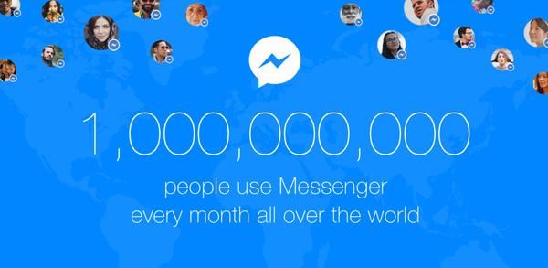Messengeristä Facebookin toinen miljardin käyttäjän pikaviestin