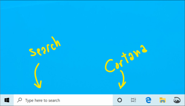 Microsoft is separating search and Cortana in Windows 10