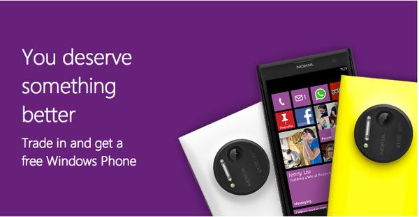 Microsoft mainostaa: Anna vanha iPhone tai Galaxy, saat ilmaiseksi Lumian