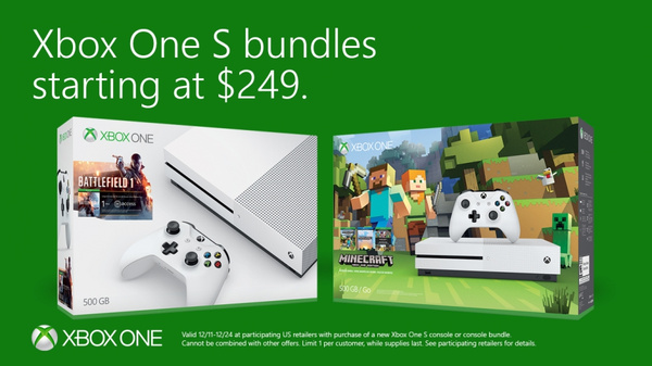 PSA: Microsoft offering $50 off all Xbox One S bundles