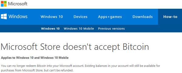 Microsoft: Yes, we still accept Bitcoin