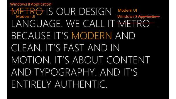 Microsoft: Metro oli vain koodinimi