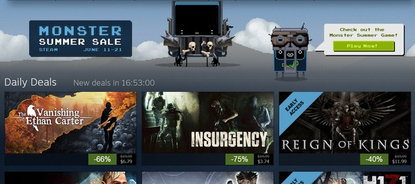Steam's 'Monster Summer Sale' adds new titles every 12 hours