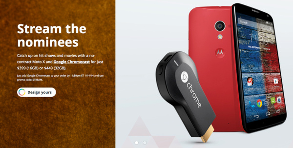 Motorola giving away Chromecast for free with unlocked Moto X