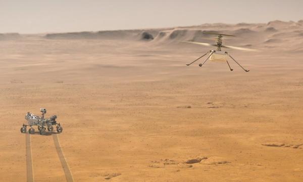 WATCH: Enhanced video of Mars helipcopter flight
