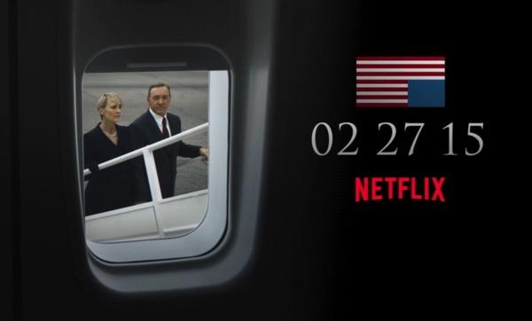 Netflixin House of Cardsin kolmas tuotantokausi sai julkaisupäivän