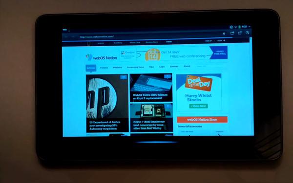 Open webOS working on Nexus 7 tablet
