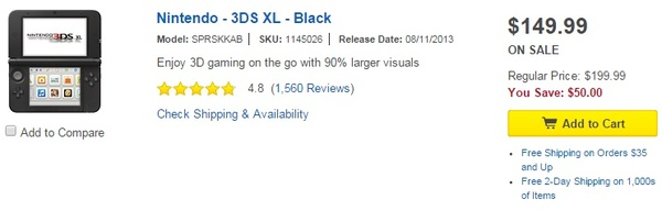 Nintendo 3DS XL selling for $150 for a limited time