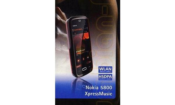 Uusi kuva Nokian kosketusnäyttölaitteesta - 5800 XpressMusic?