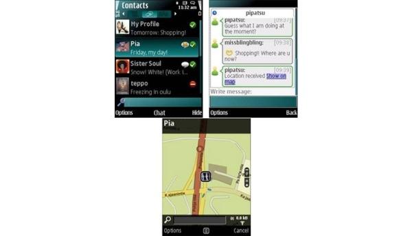 Nokia Chatista tuli Contacts on Ovi