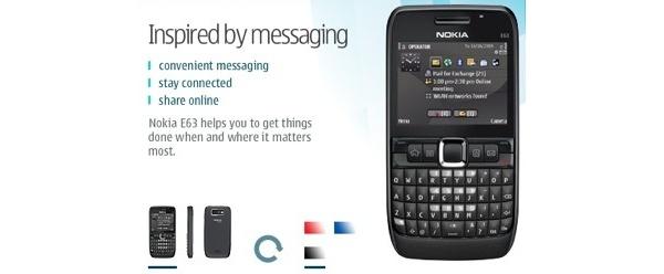 Nokia E63 myyntiin mustana
