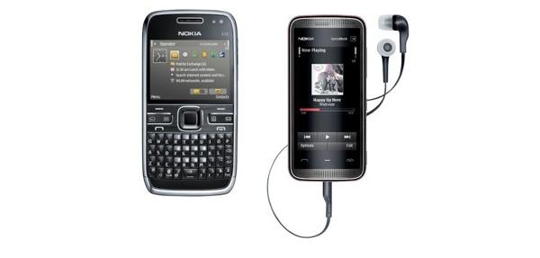 Nokialta 5530-kosketusnäyttöluuri ja E72-älypuhelin