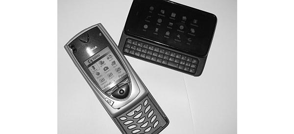 Ensimmäinen Maemo-puhelin Nokia N900 vs. ensimmäinen S60-puhelin Nokia 7650