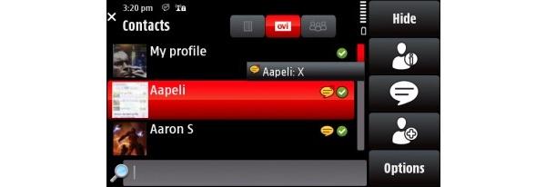 Nokialta uusi versio Ovi Contactsista