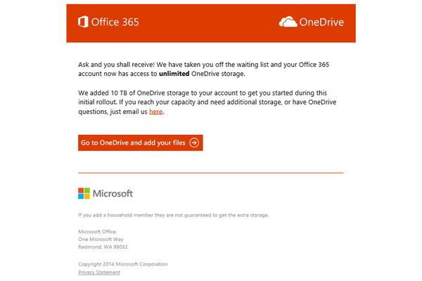 Jatkossa voit varmuuskopioida kaikki kiintolevysi OneDriveen – rajattomasti tilaa tarjolla Office 365 -käyttäjille