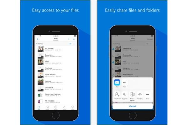 OneDrive päivittyi iOS:llä, tukee nyt lähettämistä suoraan muista sovelluksista