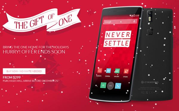 Nyt on viimeinen mahdollisuus ostaa huippusuosittu OnePlus One joululahjaksi, ilman kutsua