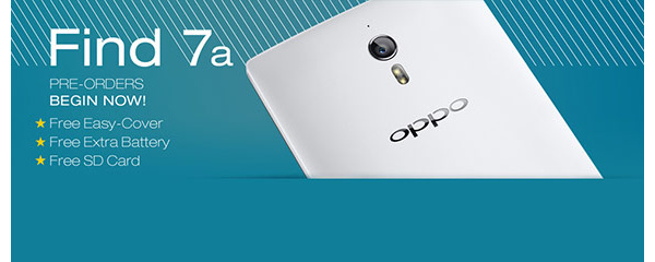The U.S. model of the Oppo Find 7a goes up for pre-order with free gifts, quickly sells out