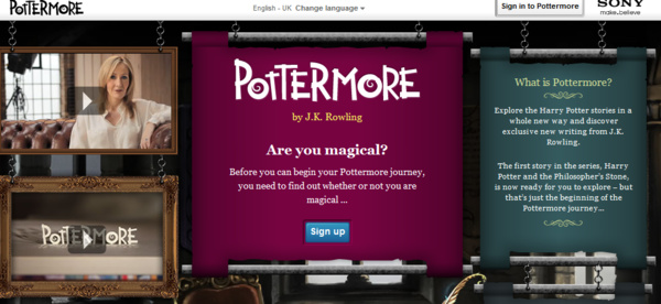 'Pottermore' now open to all