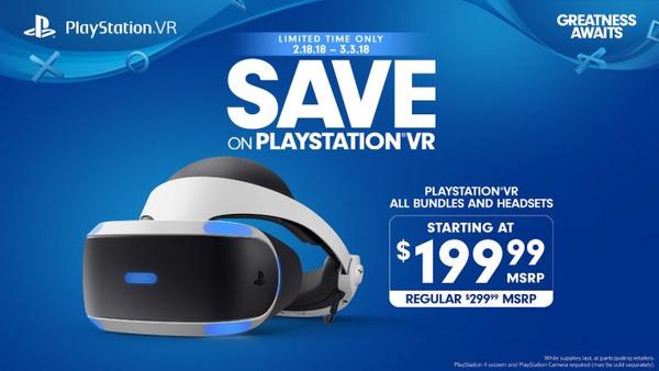 Sony cuts $100 from PSVR bundles