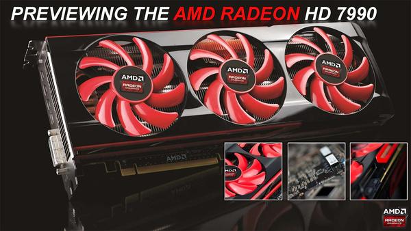 AMD vilautti virallista kahden piirin Radeon HD 7990 -korttia