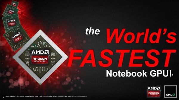 """AMD:lta """"maailman nopein mobiilinäytönohjain"""" vanhalla piirillä, uudella nimellä"""