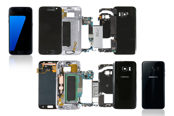 Galaxy S7:n osien yhteenlaskettu tukkuhinta selvisi
